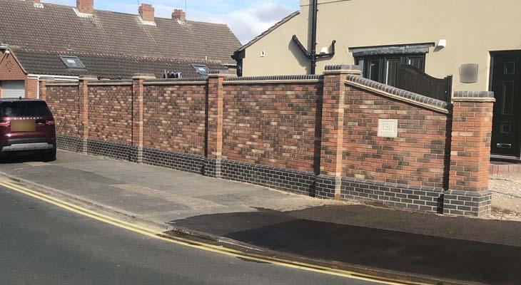 boundary wall bricklaying  walsall kirk yates building